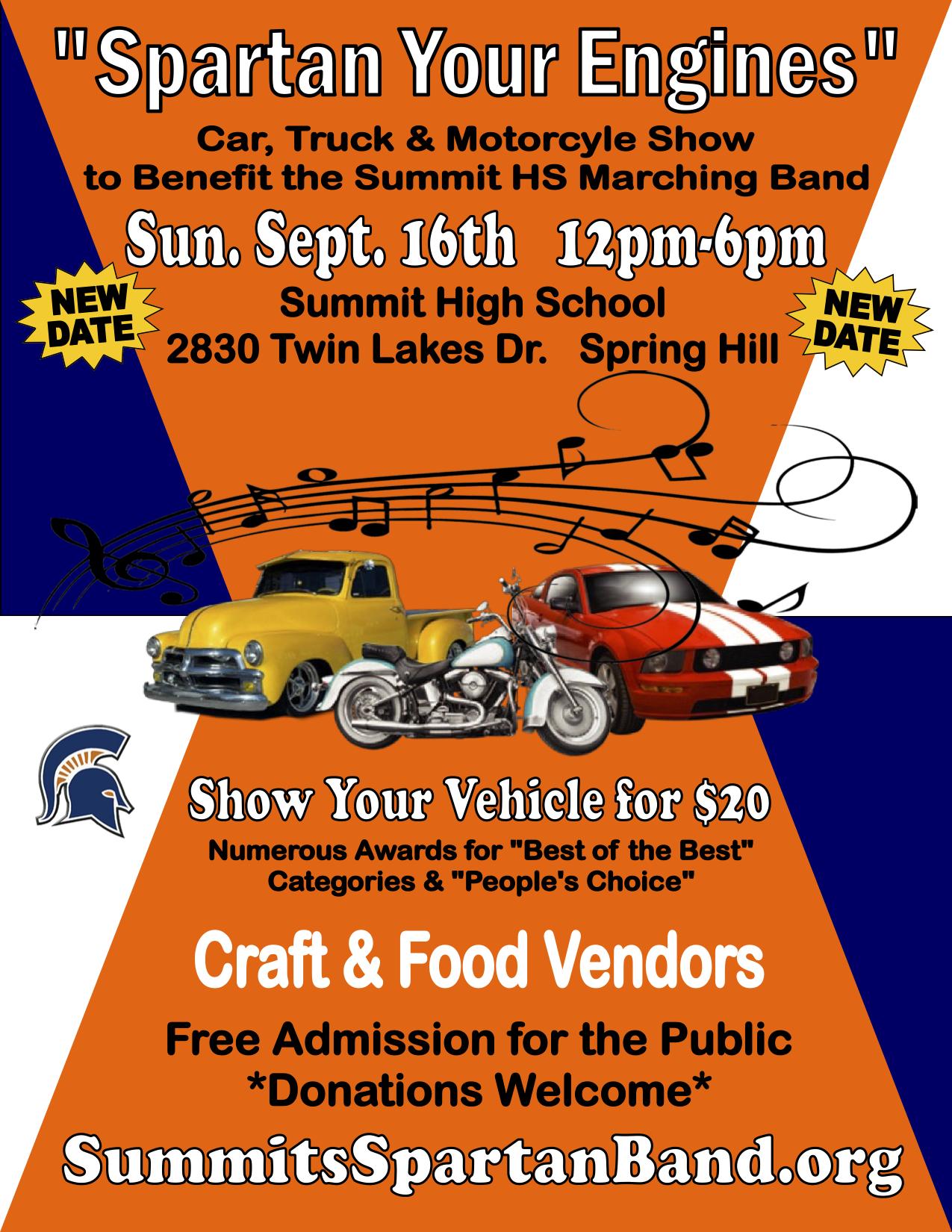 Car Show Summit High School Spartan Band - Summit car show